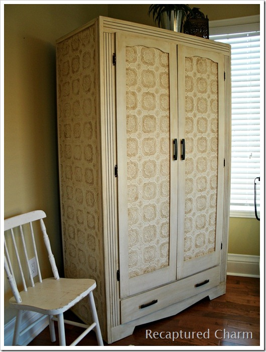 wallpapered armoire 017a