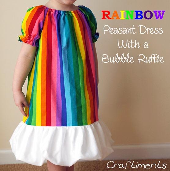 rainbow bubble ruffle peasant dress 4