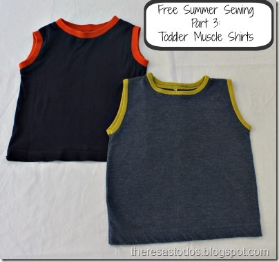 Free Summer Sewing Toddler Muscle Shirts