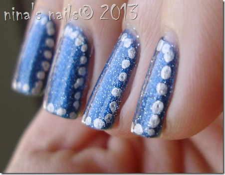 Polka dots framed nails-olivia #94