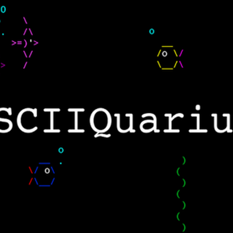 Asciiquarium is an aquarium/sea animation in ASCII art.