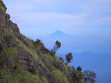 Slamet in the distance, seen from Sumbing (Daniel Quinn, May 2010)