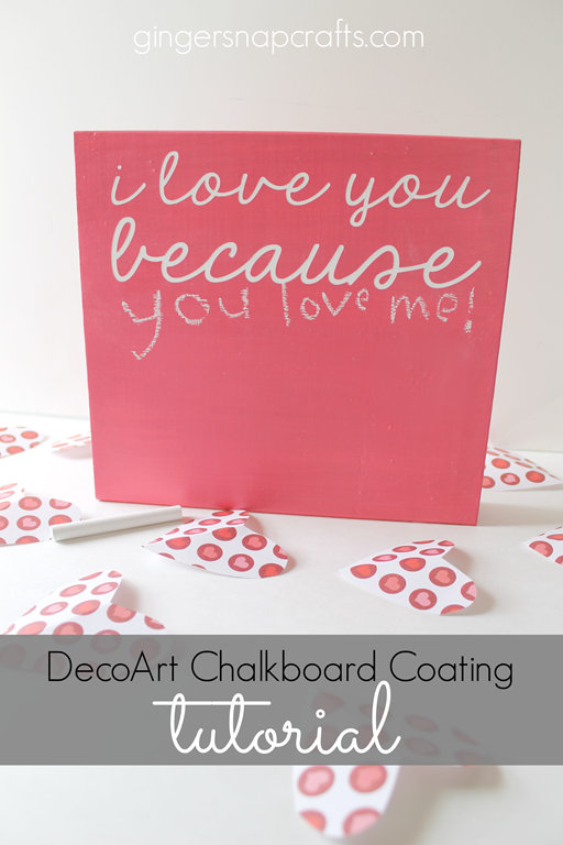 DecoArt Chalkboard Coating Tutorial at GingerSnapCrafts.com #chalkboard #decoart #tutorial #spon