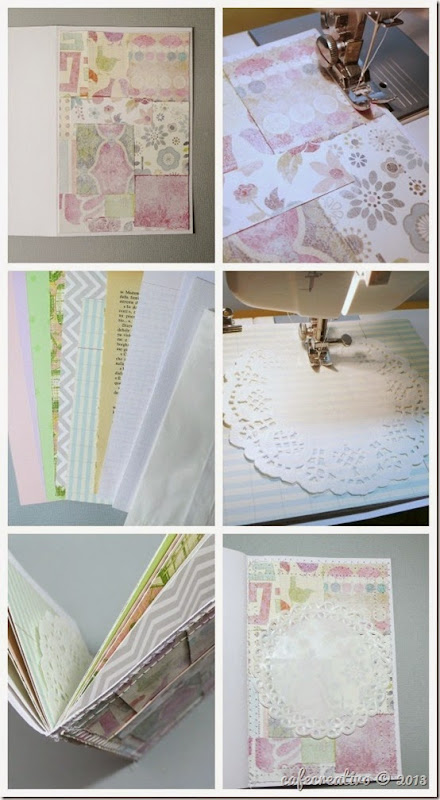 cafe creativo - AnnaDrai - scrapbooking - Vintage journal minia album - tutorial (1)