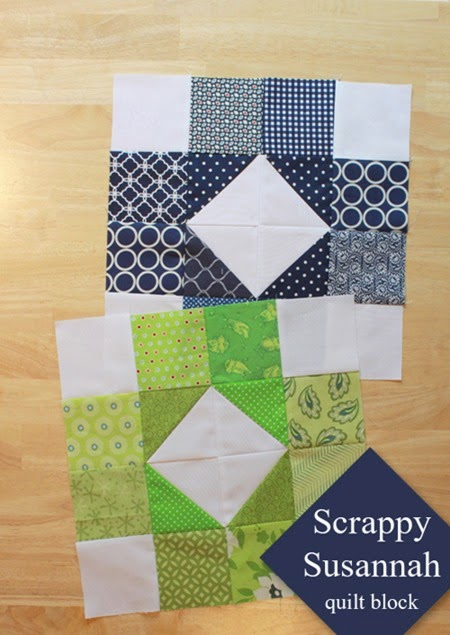 Scrappy Susannah Quilt Block tutorial 1a