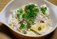 豆腐シラスごま油