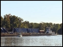 2013-10-26 - Black Warrior-Tombigbee Waterway(AL) - Old Lock One-Cut Off, mile 100 até Alabama River Cut Off, mile 52,8 (55). Fair Ketch ficou pequenino