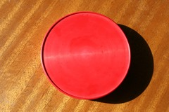 Kristian Vedel (Danish, 1923–2003) designed large red melamine VI-21 bowl