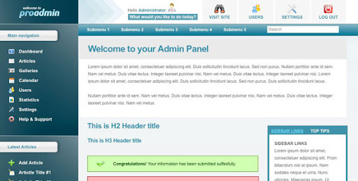html template for admin panel - admin panel html templates proadmin template