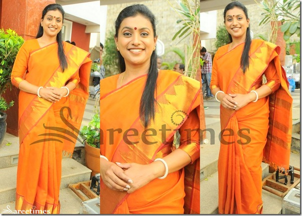 Roja_Orange_Traditional_Saree