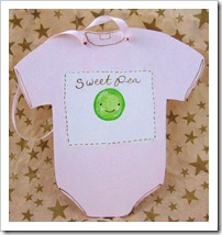 SweetPea Baby Bodysuit Ornament