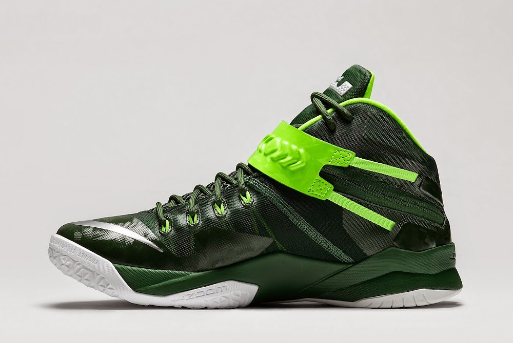 d35be7f2e5b7 Wholesale Nike Zoom LeBron Soldier 8 Gorge Green Electric Green ...