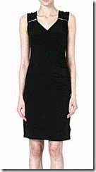 Michael Kors Zip Detail Black Wrap Dress