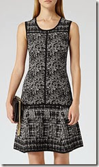 Reiss Textured Fit and Flare Dress