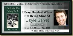 I Pray Hardest When Im being Shot At tour banner K G revision