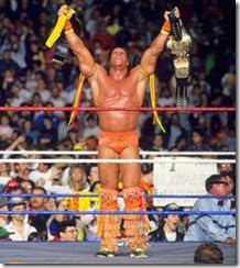 Ultimate Warrior won the Title vs Title match against Hogan at Wrestlemania
