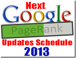 next google pagerank updates 2013