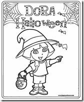 dora halloween jugarycolorear (5)