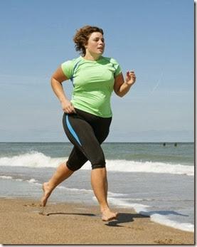 correndo na praia