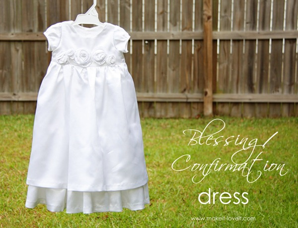 blessing dress tutorial