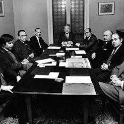 Los miembros de la oposicion reunidos en Coordinacion Democratica o Platajunta