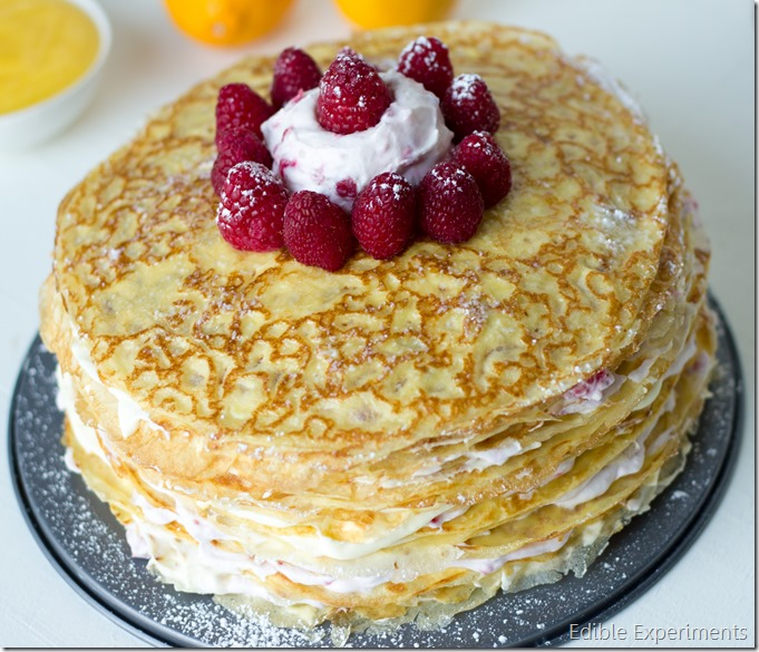 Meyer Lemon and Raspberry Crepe Cake-17