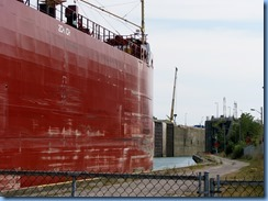 8455 Thorold -  Welland Canals Parkway - Thunder Bay lake freighter leaving Lock 6