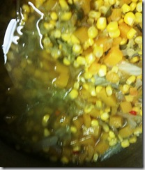 Corn and pumpkin sayur