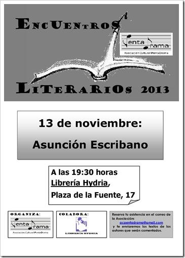 ASUNCIÓN ESCRIBANO, cartel