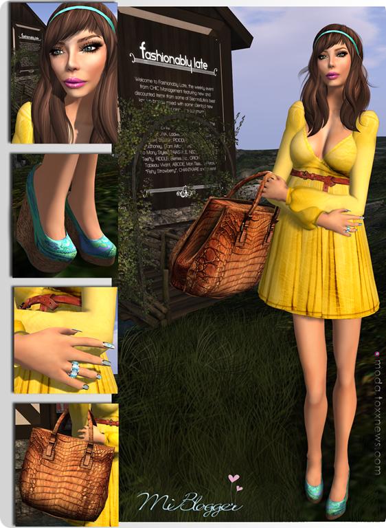 Casual amarelo Feiras second life miblogger moda toxx 1