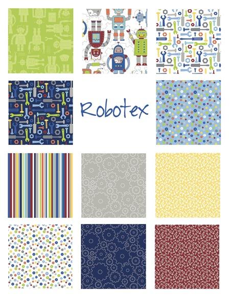 Robotex fabric Northcott Mint Blossom
