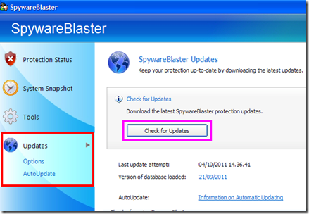 SpywareBlaster Updates