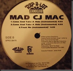 Mad CJ Mac ‎– Come And Take A Ride