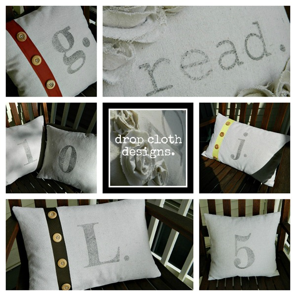 drop_cloth_pillows_sold_collage_with_logo