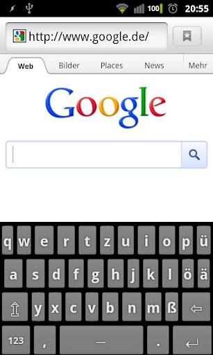 Deutsche Tastatur mit Umlauten