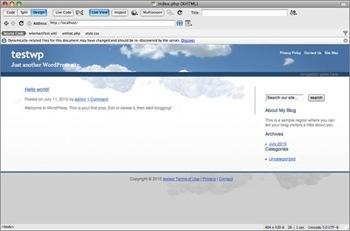 Prévisualiser le thème Wordpress pour modifier un thème Wordpress avec Dreamweaver