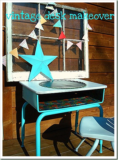 northern cottage vintage desk makeover