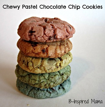 Pastel Rainbow Chocolate Chip Cookies 6