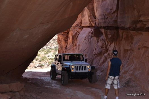 Guiding Tom through the rocks!