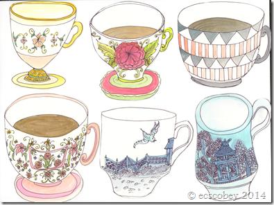 Six Teacups
