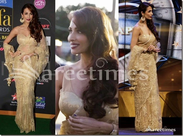 Malaika_Arora_Gold__Embellished_Net_Saree
