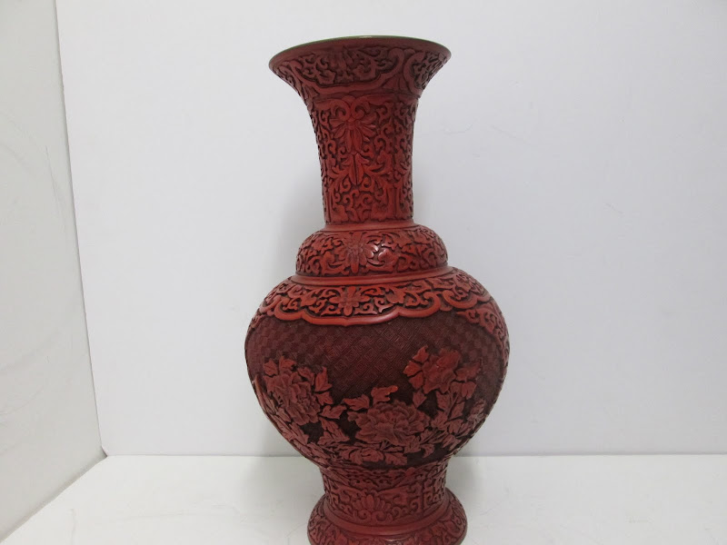 Cinnabar Style Vase
