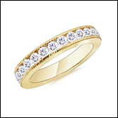 Round Diamond Eternity Ring in 14k Yellow Gold
