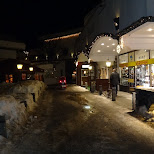 seefeld shopping street by night in Seefeld, Tirol, Austria