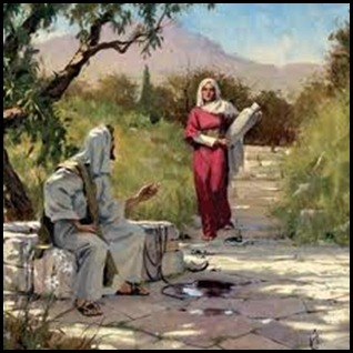 jesus and mary at the well