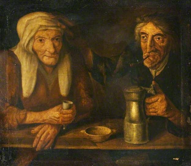 An Old Couple Drinking by British (Scottish) School: Traquair Charitable Trust