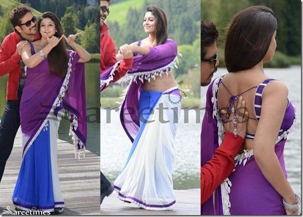 Nayanthara_Tricolor_Georgette_Saree