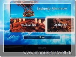 Skylanders Optionen