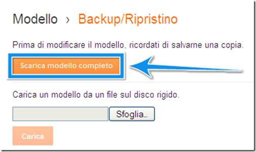 modo per salvare template modello html codice blog blogger