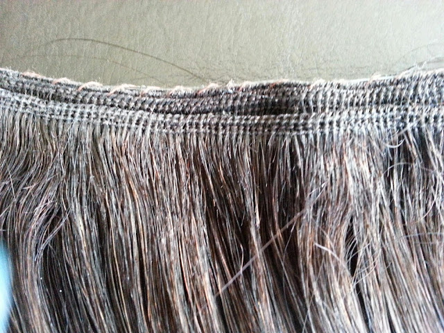 Back lace diy halo flip in hair extensions use the needle and thread to create a light running stitch along the top of the double weft to create a barrier to hold the halo wire in place in between solutioingenieria Images